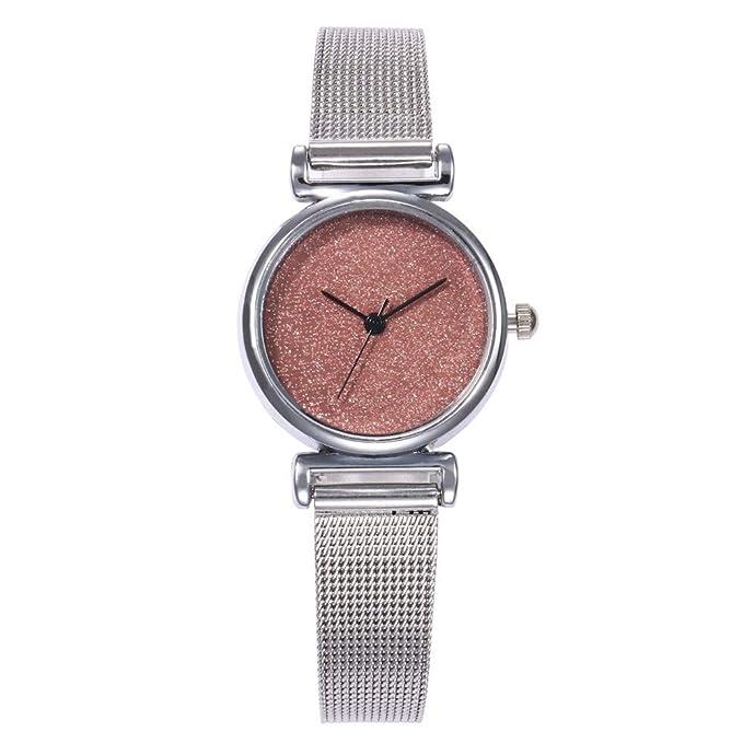 Mymyguoe Reloj de Pulsera Hombre Reloj con Lentejuelas dial Reloj de Cuarzo Reloj Mujer Unisex Reloj de Pulsera Reloj Mujer Moda Reloj analogico Reloj de ...