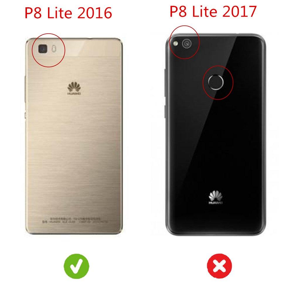 Funda Huawei P8 Lite (2016) , FANSONG Ultra Delgado Anti-scratch Antigolpes PC duro Carcasa Caso para Huawei P8 Lite (2016) Case (oro rosa)