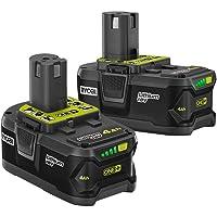 2-Pack Ryobi 18-Volt ONE+ 4.0Ah Lithium-Ion Battery
