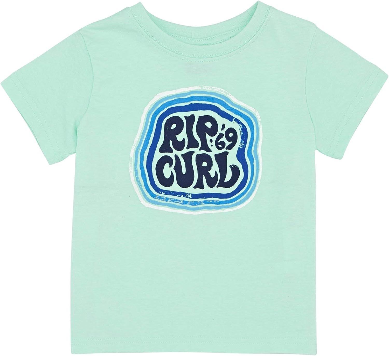 Rip Curl - Camiseta de Manga Corta - para niño Verde Verde Menta ...