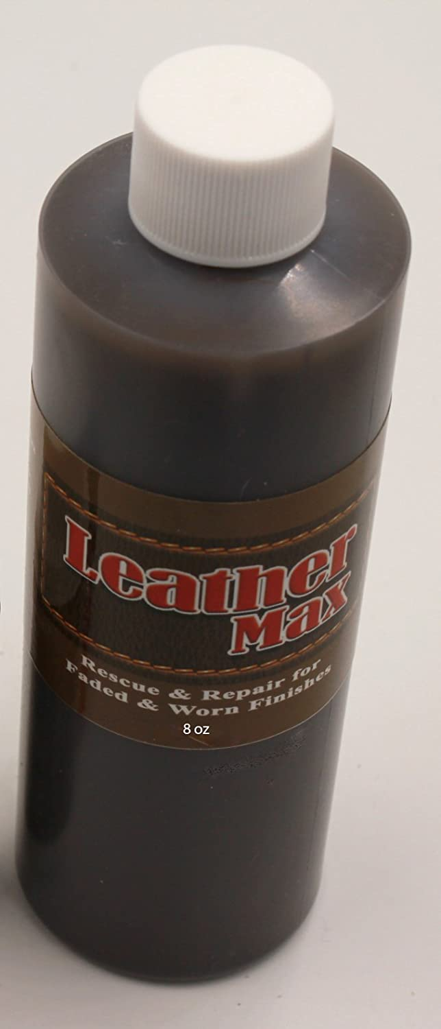 8 Ounce Bottle of Furniture Leather Max Leather Restorer and Refinish Made to Repair Worn and Faded Finishes (Leather Repair) (Vinyl Repair) (Mahogany)