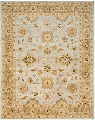 Safavieh Antiquities Collection AT856B Handmade Traditional Oriental Light Blue and Sage Wool Area Rug 9'6″ x 13'6″