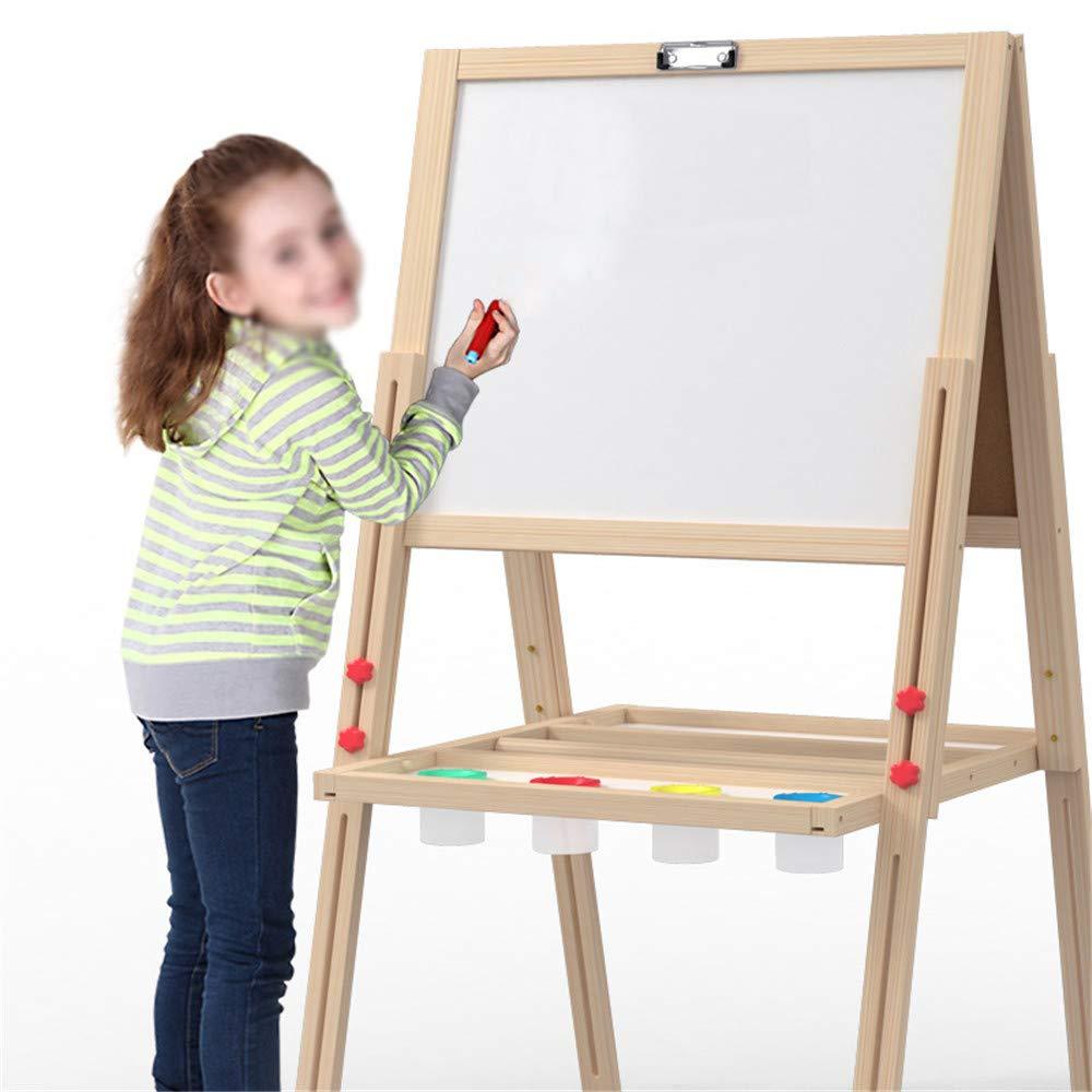 Cavalletto d'arte verdeicale di lusso L'impalcatura di sollevamento del doppio del bordo del disegno magnetico di legno dei bambini lavora un cavalletto con la compressa di legno reale Lavagna a secco,
