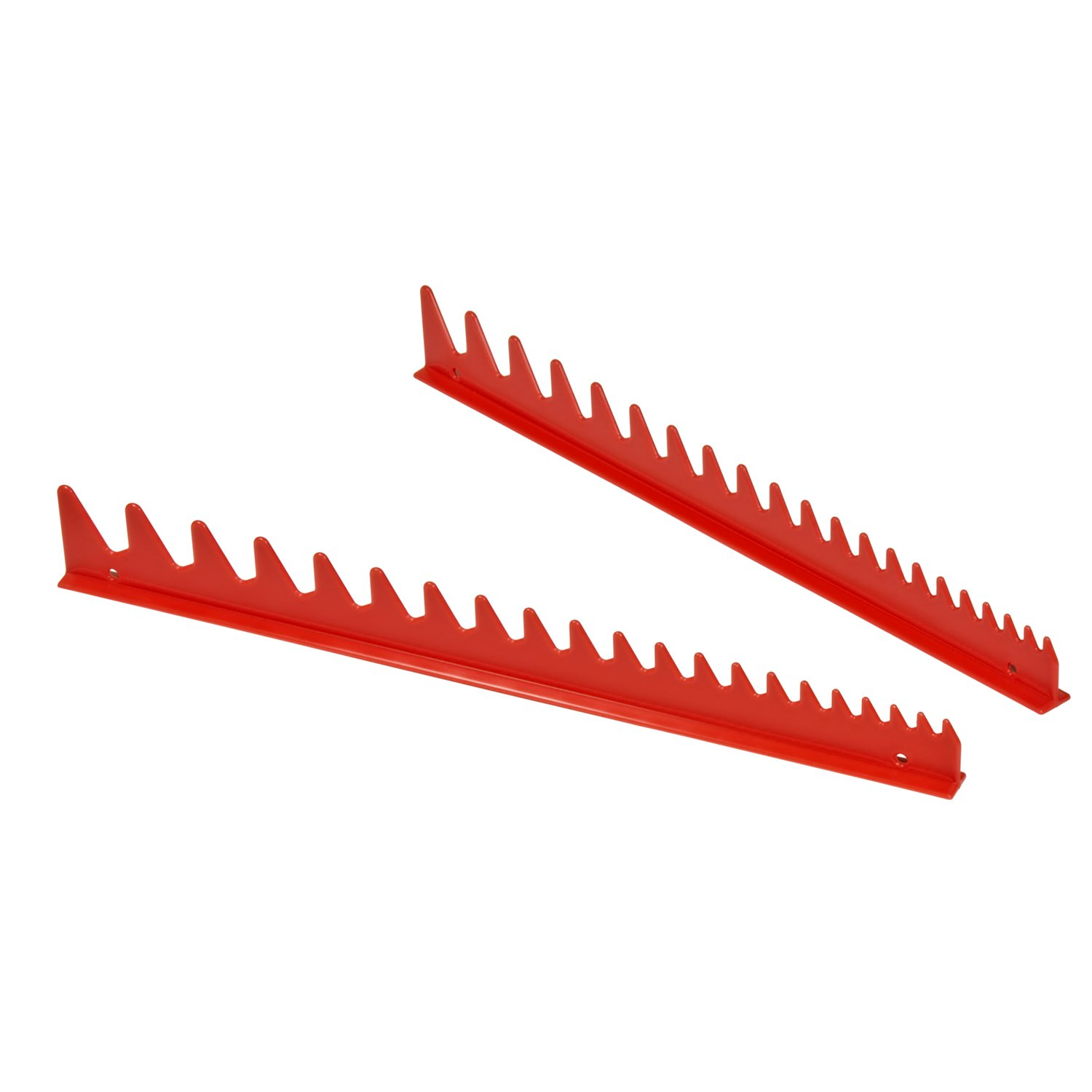 Ernst Manufacturing Wrench Rail Set with Magnetic Backing, 20 Tool, Red