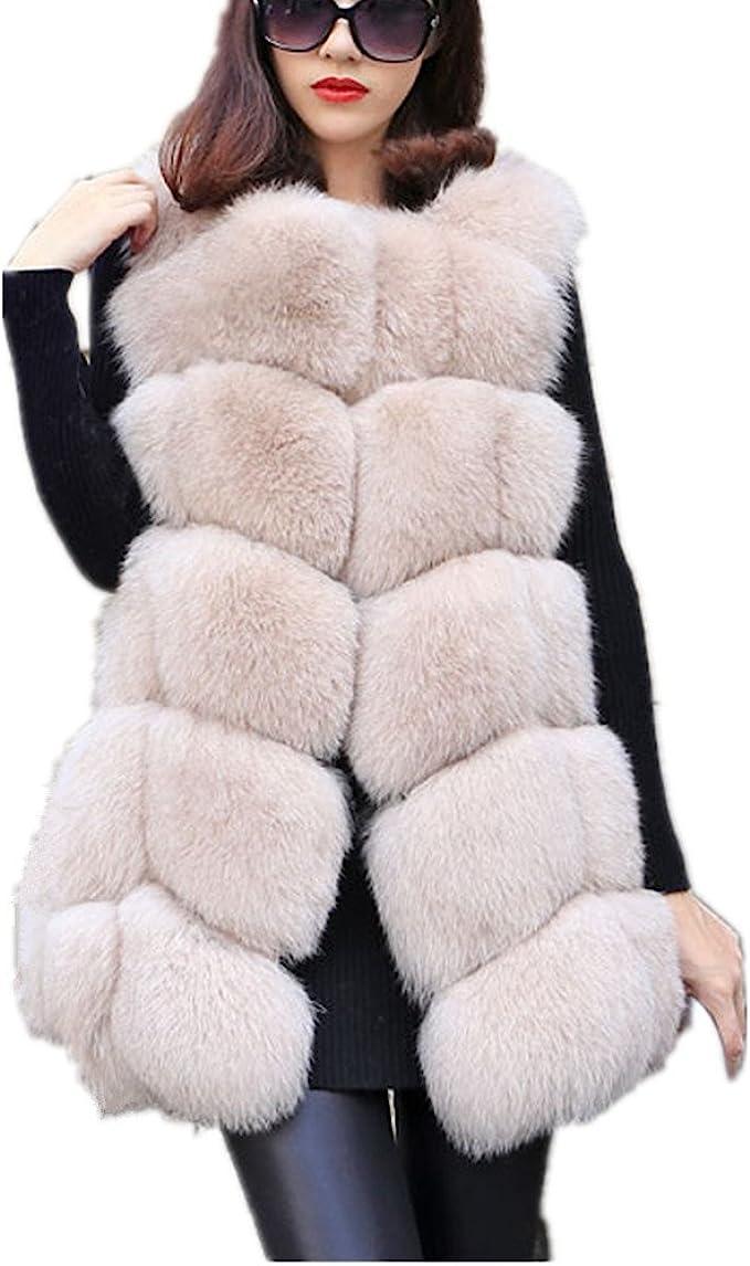 Women Faux Fur Vest Coat Luxury Fox Fur Coat Jackets Winter Warm Fur Vest  at Amazon Women's Coats Shop