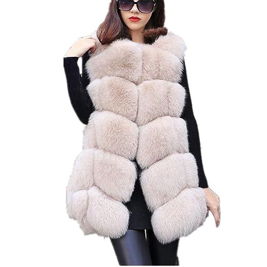 f0c91adb5 Women Faux Fur Vest Coat Luxury Fox Fur Coat Jackets Winter Warm Fur Vest