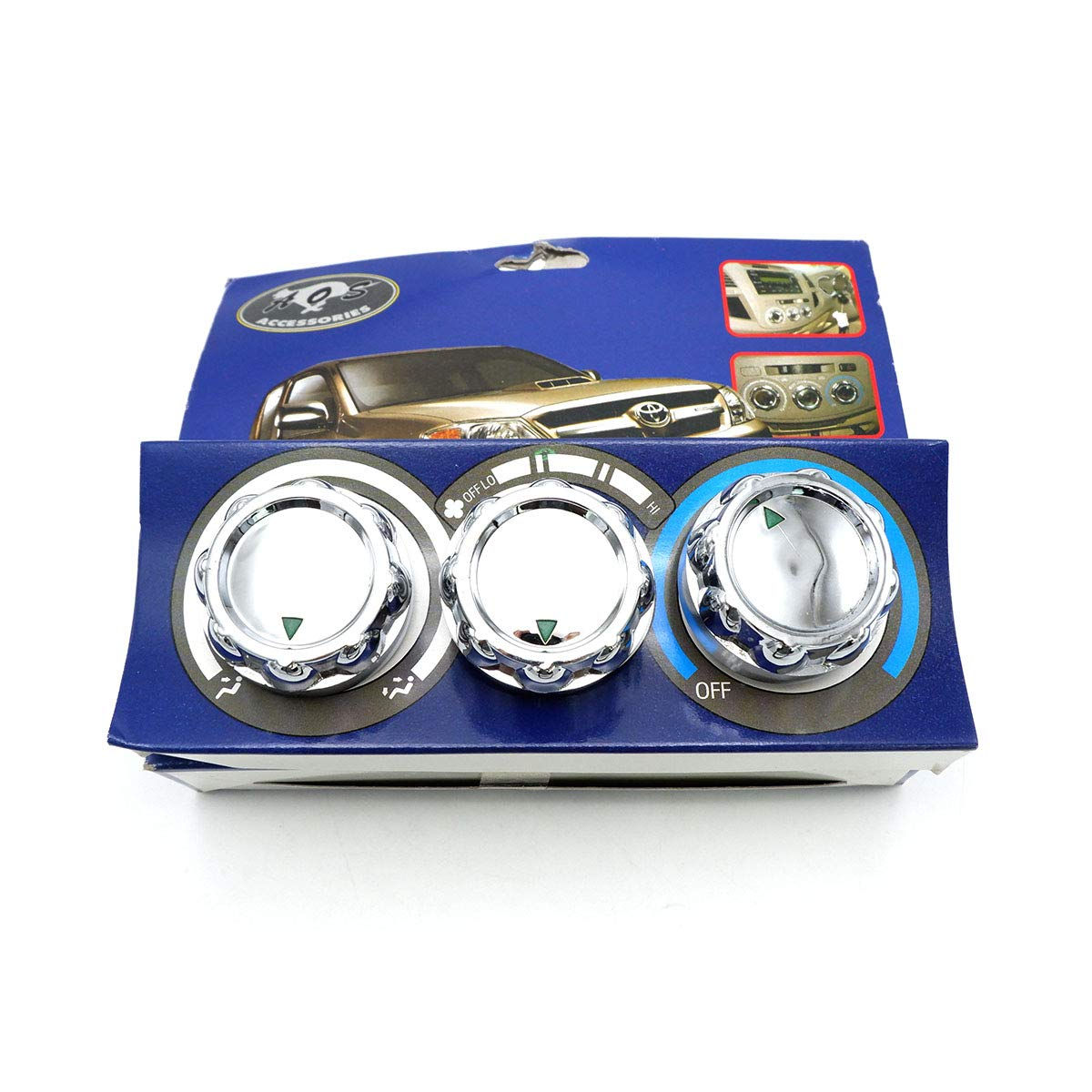 Nonstops Chrome Air Condition Switch Cover Chrome Fits Toyota Hilux Vigo Mk6 2005 10 by Nonstops