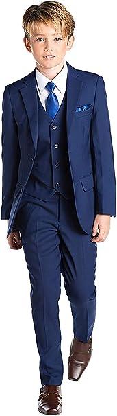 Jungen Anzug 5-teilig blau Kommunionsanzug Festanzug Kinderanzug Hochzeitsanzug