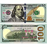 Novelty USA Currency 100 Pieces USD $100 Total $10000 Play Money Props Bills Novelty Film and television shooting Gifts For Movie, TV, Videos, Advertising & Novelty