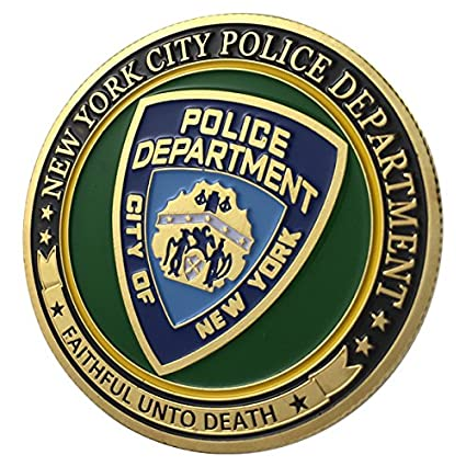 new york city police department nypd g p challenge coin 1114