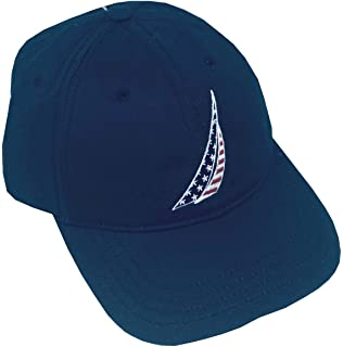 b109eead872fe8 Nautica Men's Standard Classic Logo Adjustable Baseball Cap Hat ...