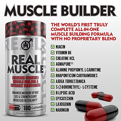 REAL MUSCLE BUILDER ? Mass Building Laxogenin Supplement for Men ? Anabolic Weight Gainer & Nutrient Partitioner for Muscle Growth & Fat Loss | Clear Plateaus Fast | Serious Bodybuilding |180 Pills
