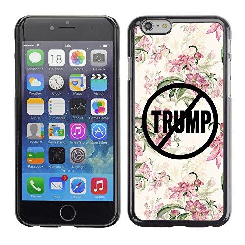 """Print Motif Coque de protection Case Cover // Q04110532 Jamais Trump floral croquis // Apple iPhone 6 6S 6G 4.7"""""""
