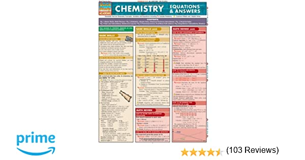 Counting Number worksheets gas law worksheets : Chemistry Equations & Answers (Quickstudy: Academic): Inc ...