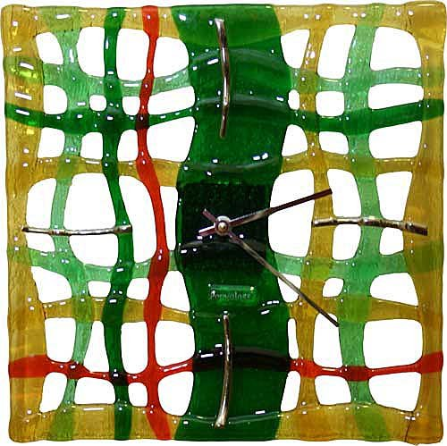 Fused Art Glass Wall Clock Mysticism