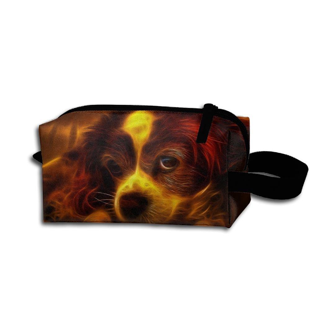 メイクアップコスメティックバッグかわいい犬ペイントパターンMedicine Bag Zip旅行ポータブルストレージポーチforメンズレディース   B07DWKLD4X
