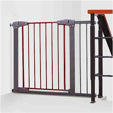 LITINGFC Bebé Puerta De La Escalera Barrera No Perforar Niños En Interiores Puerta De Seguridad Escalera De Riel Barandilla Valla for Mascotas, Puerta De Dos Vías: Amazon.es: Hogar