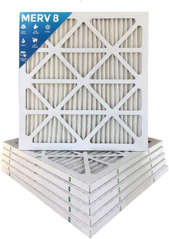 12x12x1 MERV 11 Pleated AC Furnace Air Filter MPR 1000 6 Pack Actual Size: 11-1//2 x 11-1//2 x 7//8