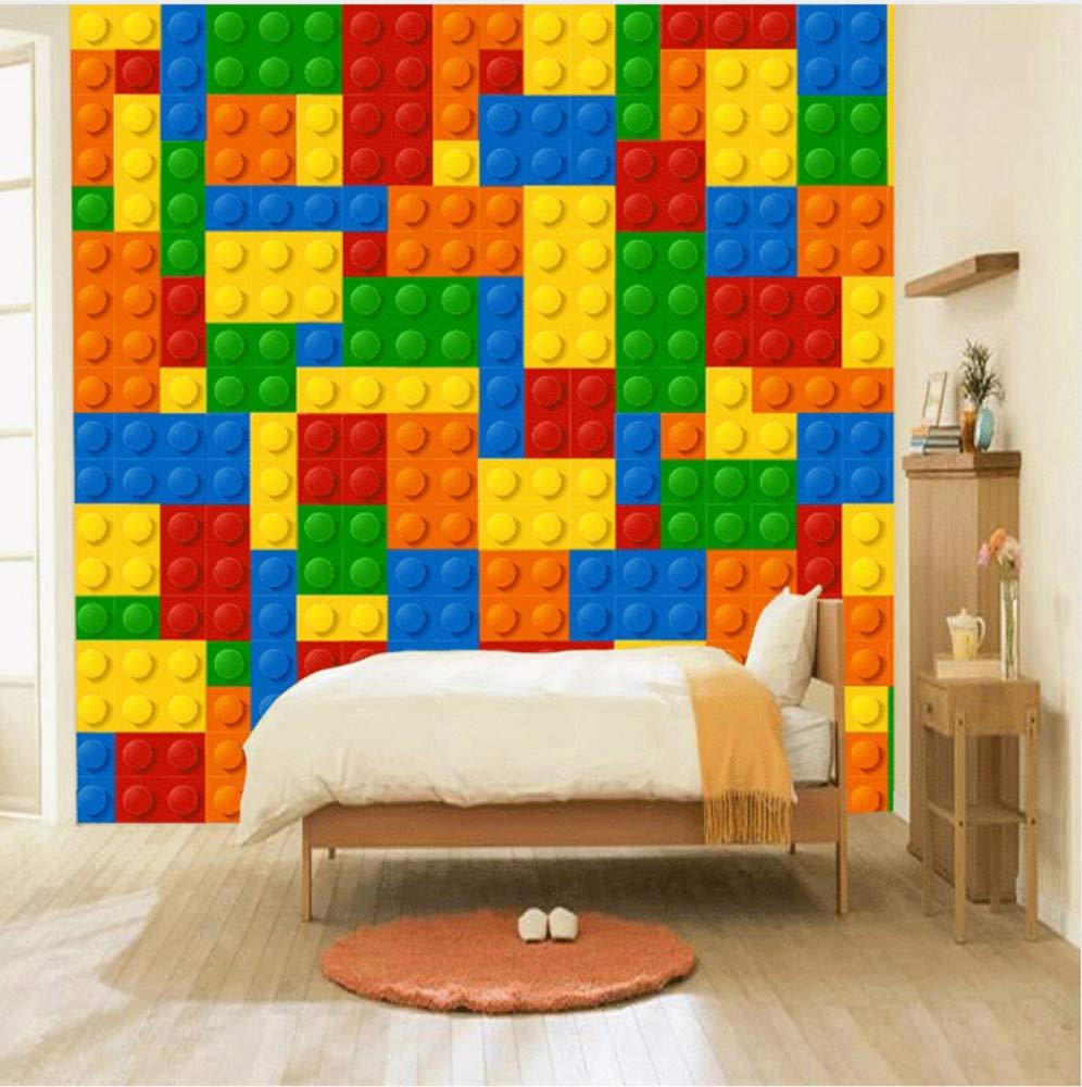 Keshj Benutzerdefinierte Größe 3D Wandbilder Tapete Für Wohnzimmer Lego Ziegel Kinder Schlafzimmer Spielzeug Shop Wandbild Tapete Dekor-250cmx175cm