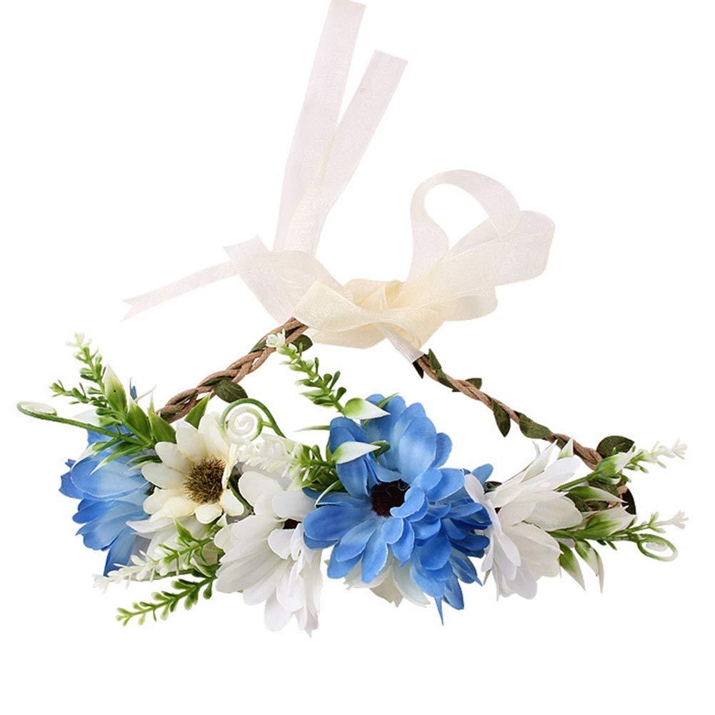 Goodplan Bandeau, enfants garçon fille chiffon guirlande de fleurs bande de cheveux auto-attachée bandeau Photo Prop C durable et utile