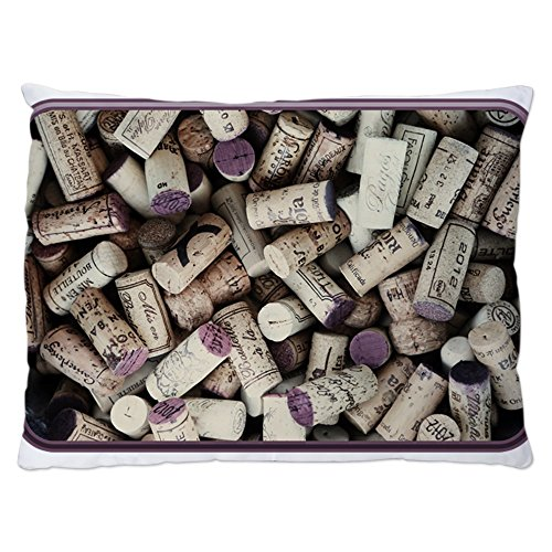 Indoor Luxury Plush Dog Bed I love Wine Corks