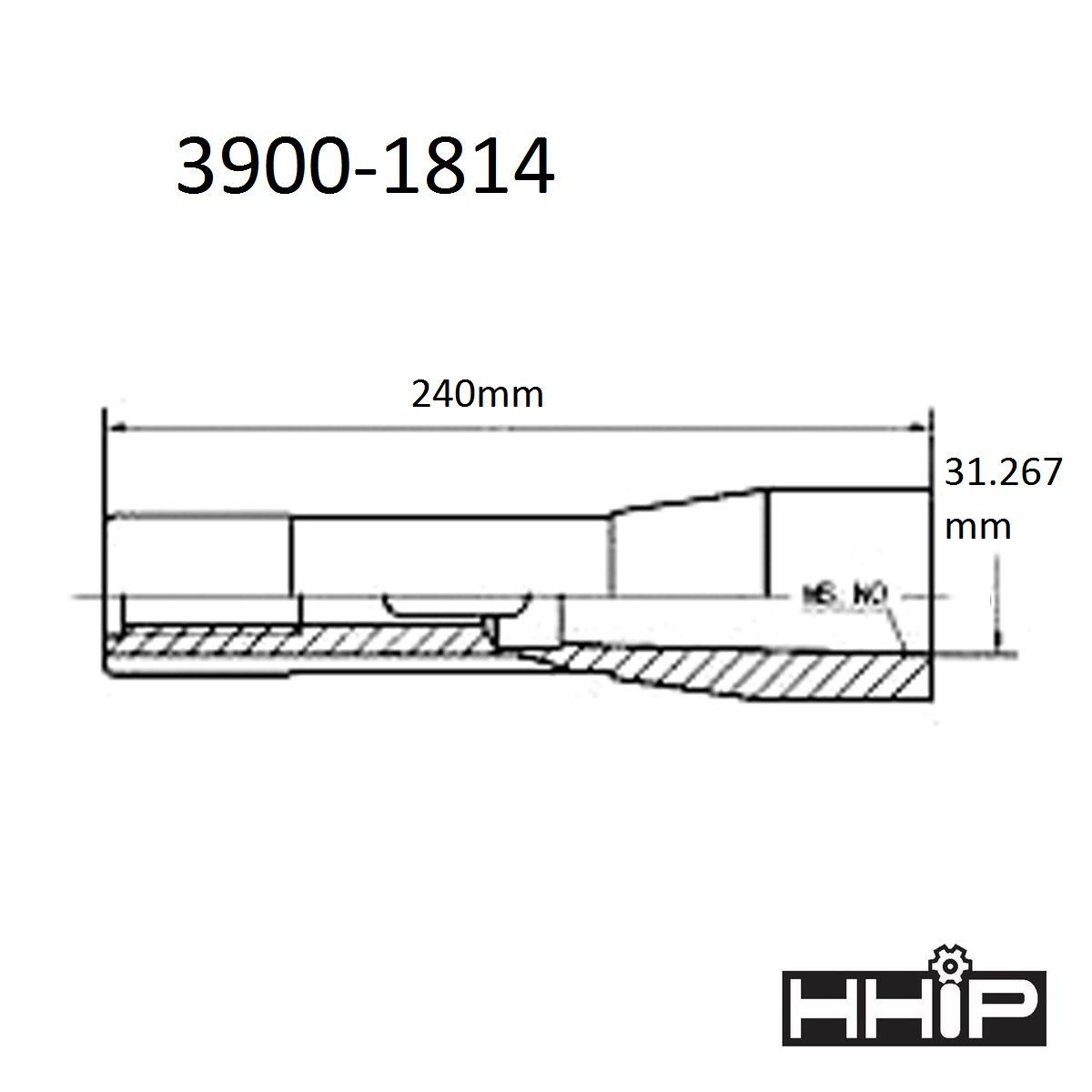 HHIP 3900-1812 R8 to MT2 Sleeve