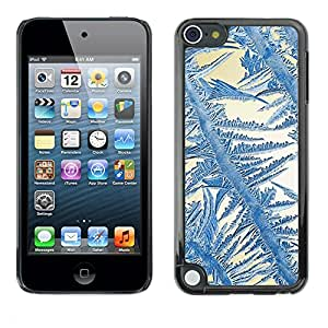 TopCaseStore / la caja del caucho duro de la cubierta de protección de la piel - Crystal Sun Blue White Winter - Apple iPod Touch 5