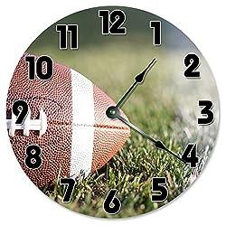 Large 10.5 Wall Clock Decorative Round Wall Clock Home Decor Novelty FOOTBALL CLOCK