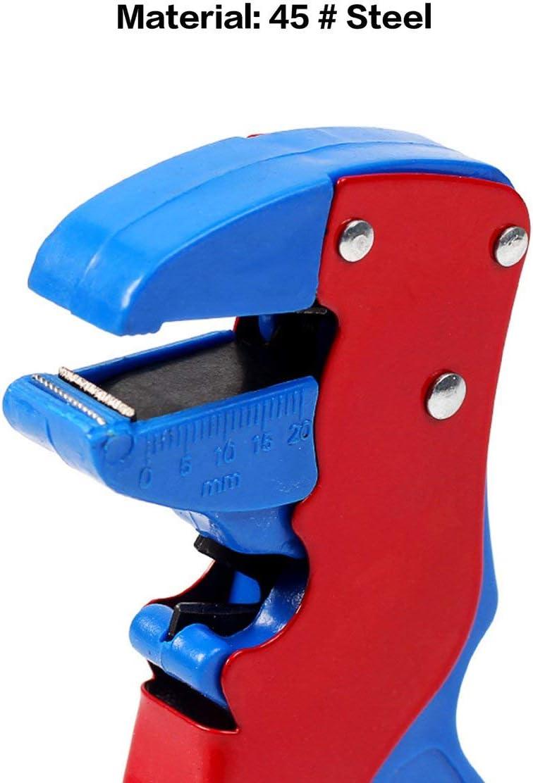 YUIO blu e rosso Spelafili automatico regolabile 0,2-6 mm quadrato con tagliafili anatra piegato naso bullone tagliafili