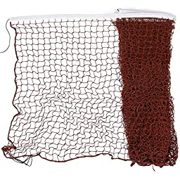 uxcell Nylon Braided Mesh Badminton Training Net 6M Long White Burgundy