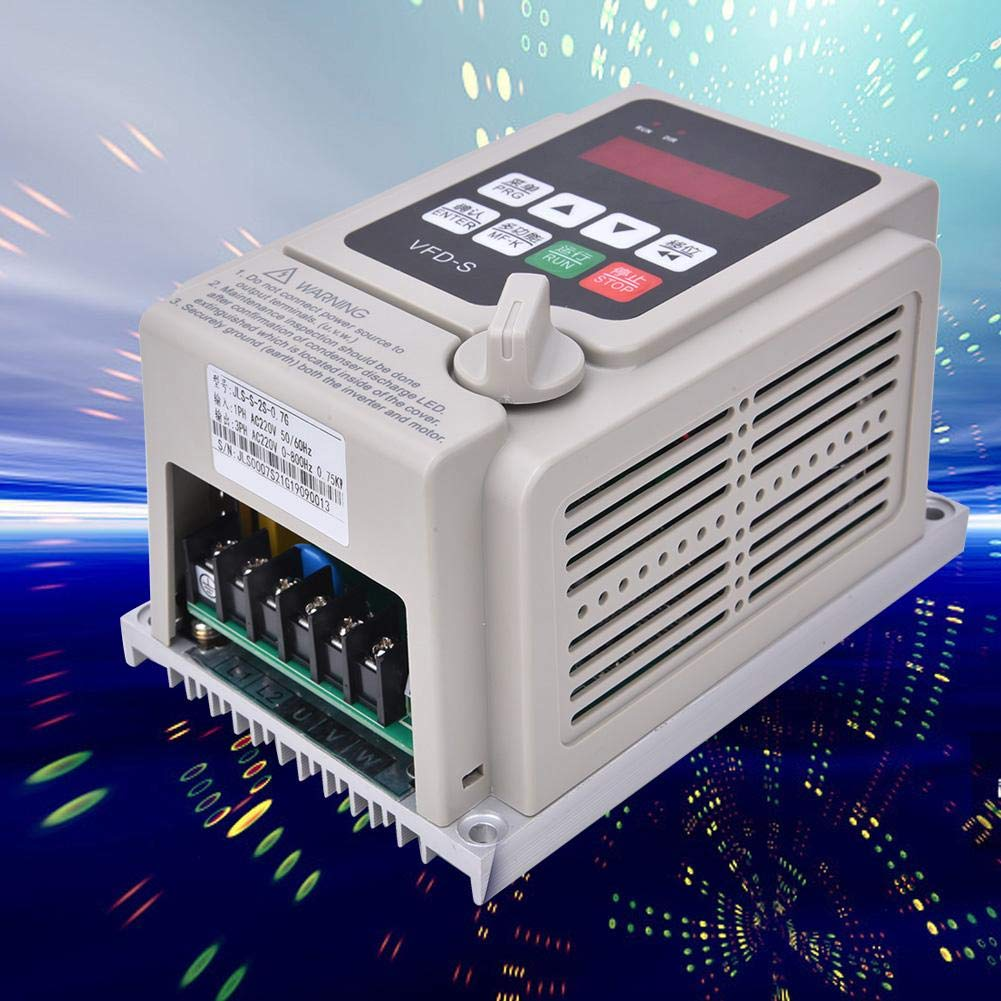 Variable Frequency Drive 0.75KW Stable Performance for Industrial Home Use High Precision PID Single-Phase Input VFD