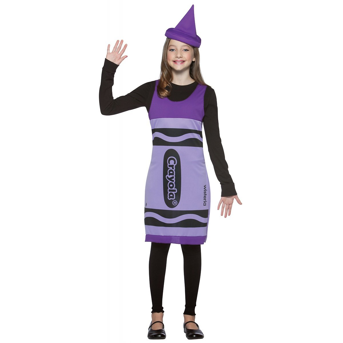 Amazon.com: Crayola Crayon Tank Dress Tween Costume Wisteria ...
