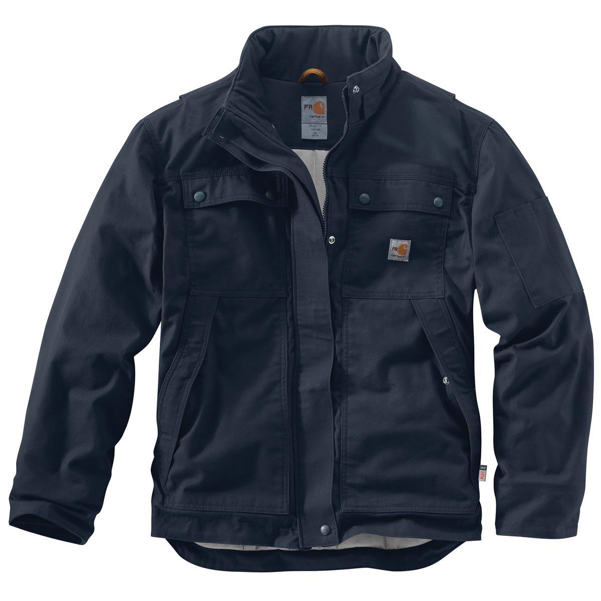 Carhartt Men's Flame Resistant Full Swing Quick Duck Coat, Dark Navy, X-Large