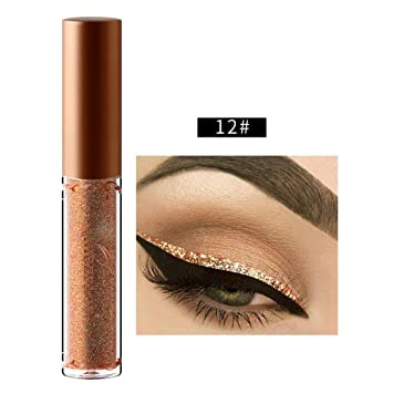 Leegoal Glitter Eyeliner Liquid 10 Colors Metallic Eyeliner Liquid Long-wearing Makeup Eye Liner Liquid