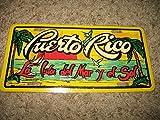 Puerto Rico La Isla del Mar y el Sol Aluminum License Plate Tag