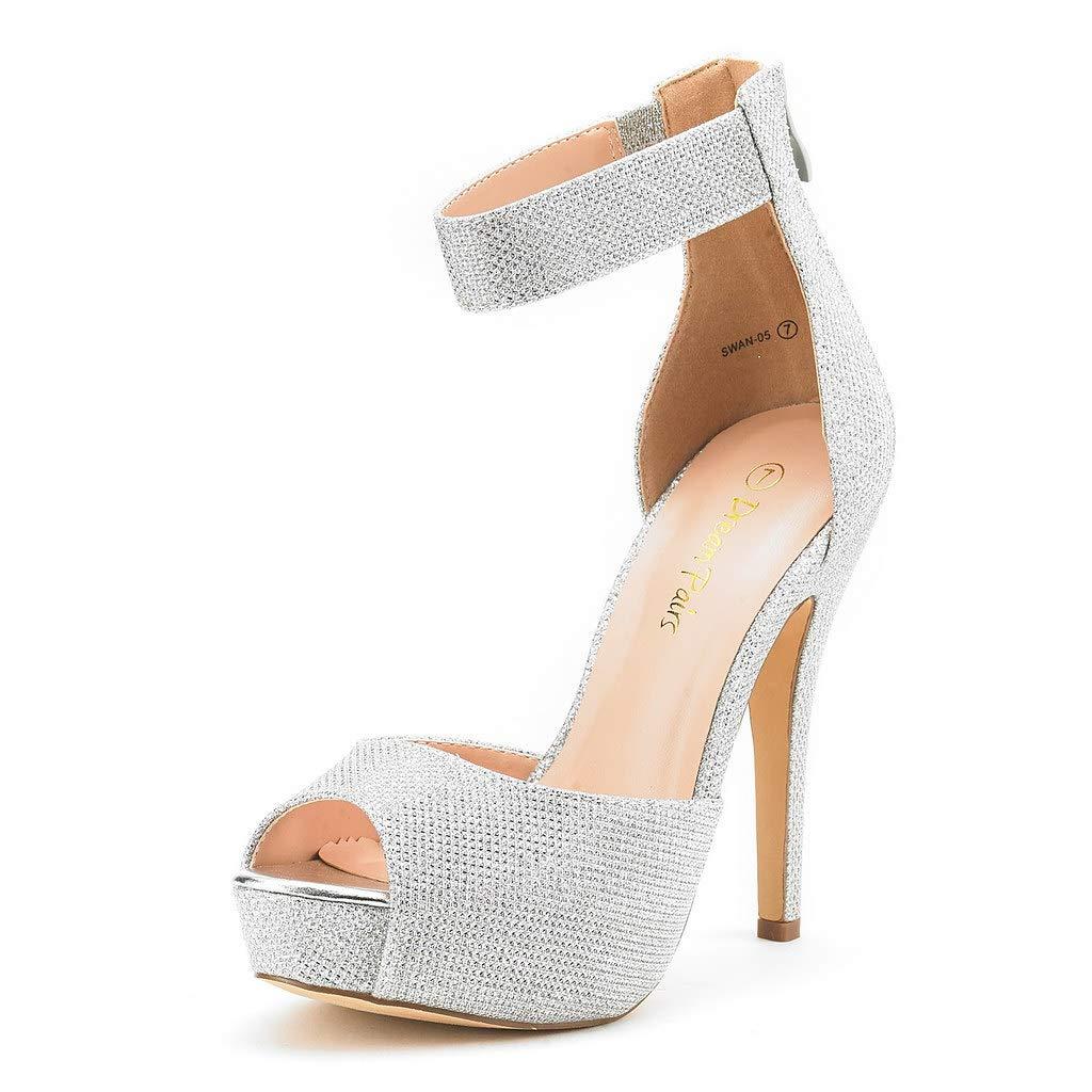 60s Shoes, Boots DREAM PAIRS Womens Swan High Heel Platform Dress Pump Shoes $39.99 AT vintagedancer.com