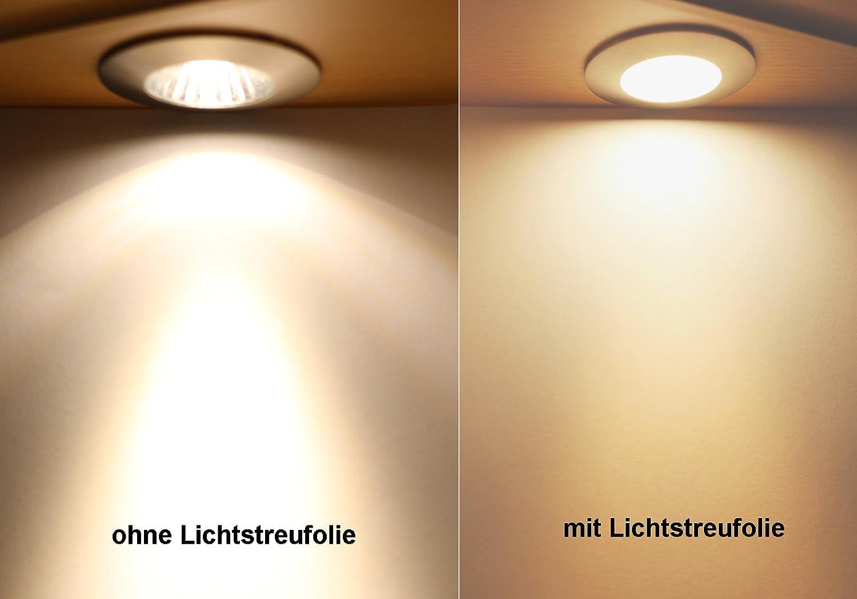 Led Lampen Folie : Lichtstreufolie für led lampen und led einbaustrahler zur besseren
