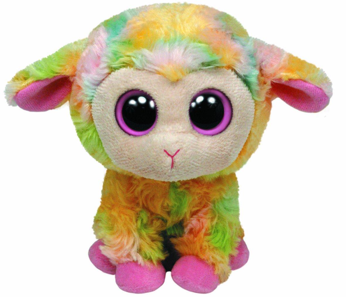 Ty 36974 - Beanie Boos Blossom Buddy, peluche de cordero (24 cm), multicolor
