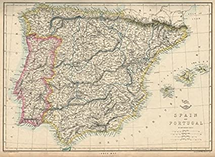 Amazon.com: Iberia. Shows Early Spanish & Portuguese ... on map of equatorial guinea in spanish, map of barcelona in spanish, map of paraguay in spanish, map of cities in espana, map of countries that speak spanish, map of the world in spanish, map of china in spanish, map of dominican republic in spanish, map of north america in spanish, map of spanish speaking countries, map of egypt in spanish, map of spanish speaking world, map of united states in spanish, map of austria in spanish, capital of venezuela in spanish, espana capital in spanish, map of trinidad in spanish, map of continents in spanish, map of puerto rico in spanish, map of england in 1500,