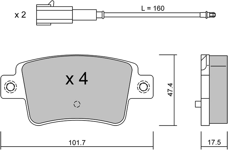 metelligroup 22-0986-1 Pastiglie Freno Made in Italy