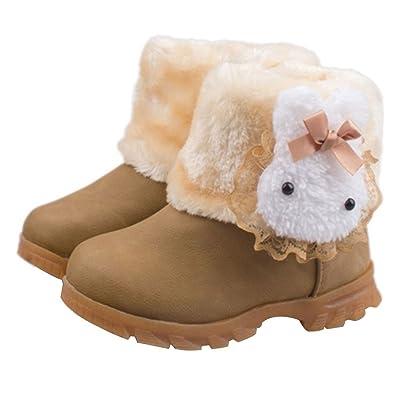 Amazon.com: taiycyxgan bebé niñas infantil conejo – Botas de ...