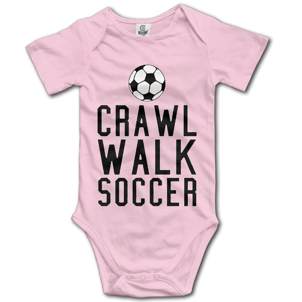 CRAWL SOCCER Unisex Baby Short Sleeve Jumpsuit Newborn Short Sleeve Onesies