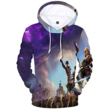 KIDSONE Premium Fnite 3D Printed Unisex Men Women Hoodie Novelty Teen Gaming Print Sweatshirt Pullover Top