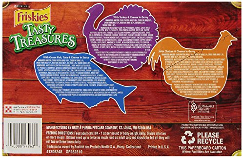 Purina Friskies Tasty Treasures Variety Pack Cat Food - (12) 4.12 lb. Box