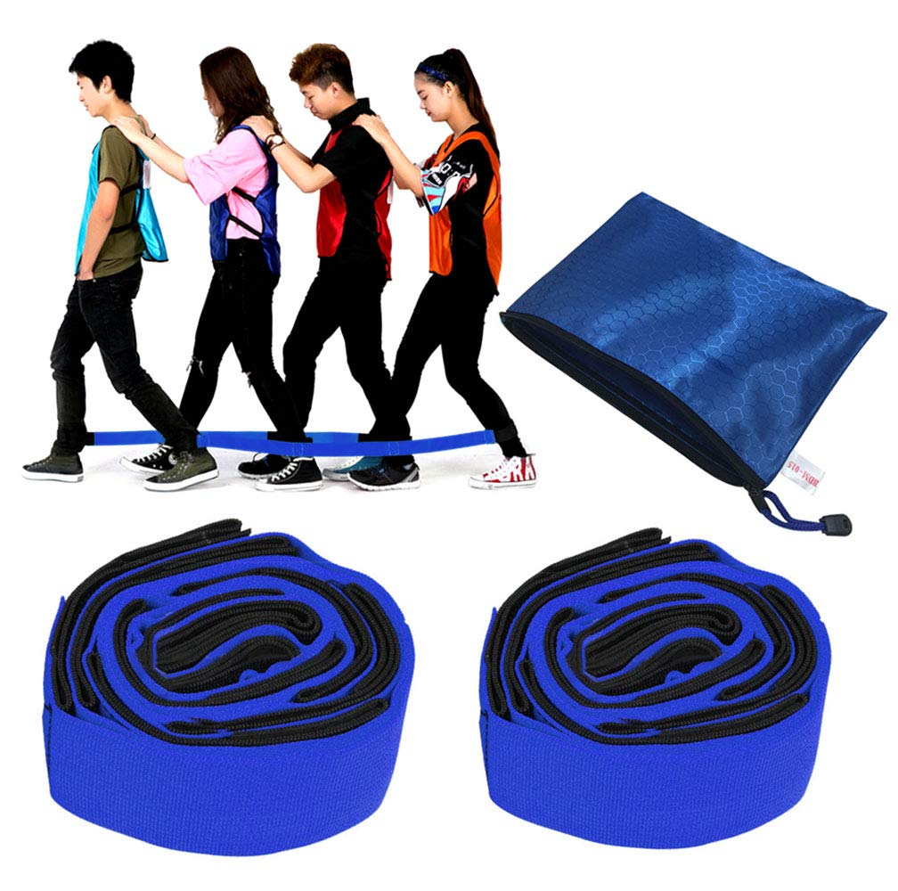 KIKIGOAL 4 Legged Race Bands Outdoor Game for Kids Adults Birthday Team Party Games with Carry Bag (Blue, 4 Person) by KIKIGOAL