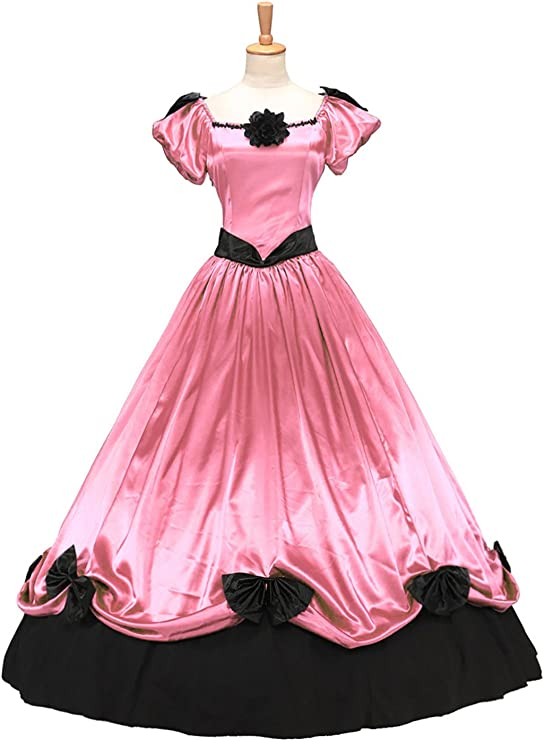 Victorian Dresses | Victorian Ballgowns | Victorian Clothing XOMO Victorian Southern Belle Ball Gown Period Princess Puff Sleeve Formal Dress $109.99 AT vintagedancer.com