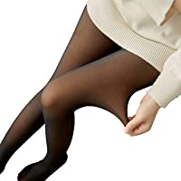 Zakball Women's Tights Translucent Flawless Legs Fake Translucent Warm Fleece Pantyhose Thermal Stretchy High Waist…