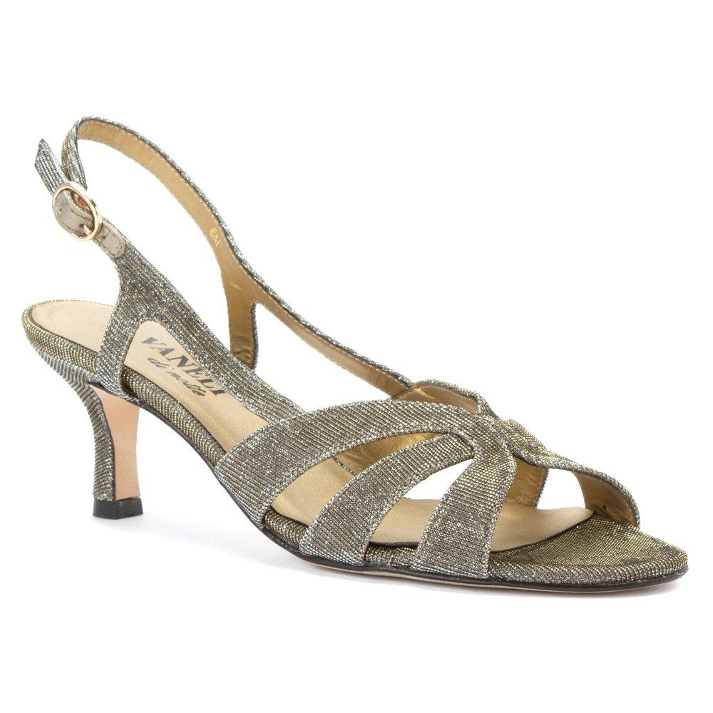VANELi Women's Maeve Dress Sandal B00HLRLXWE 7.5 W (D)|Platinum Nizza Fabric/gold Buckle