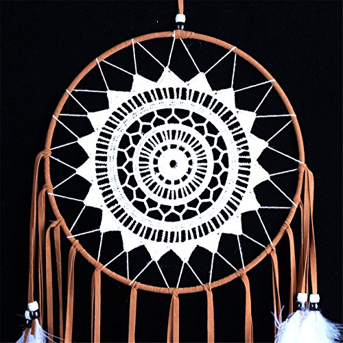 NOOS Indian Circle Dream Catcher Wind Chimes Colorful Dream Catchers Feather Traditional Style Pendant Wall Hanging Home Decoration Gift by NOOS (Image #3)