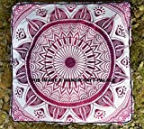 Ombre Mandala Floor Pillow Cover Square Shape Dog Bed Large Seat Ottoman Pouf Bohemian Outdoor Pets bed By ''Handicraft-Palace''